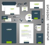 gray stationery template design ... | Shutterstock .eps vector #154054145