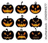 halloween pumpkin horror scary... | Shutterstock .eps vector #1540594577