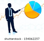 businessman shows the pie chart | Shutterstock .eps vector #154062257