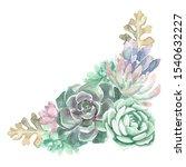 a watercolor floral bouquet... | Shutterstock . vector #1540632227