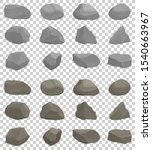 rock stones. cartoon collection.... | Shutterstock .eps vector #1540663967