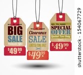 sale tag design | Shutterstock .eps vector #154067729
