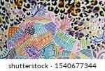 leopard print. zoo puma... | Shutterstock . vector #1540677344