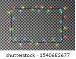 christmas lights border vector. ... | Shutterstock .eps vector #1540683677