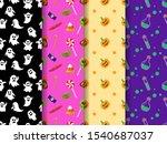 mega set of halloween seamless... | Shutterstock .eps vector #1540687037