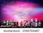 abstract purple illustration... | Shutterstock . vector #1540703687