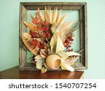 composition of dry leaves of... | Shutterstock . vector #1540707254