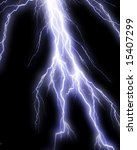 lightning flash on black... | Shutterstock . vector #15407299