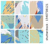 abstract collage asymmetric... | Shutterstock .eps vector #1540738121