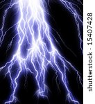 lightning flash on black... | Shutterstock . vector #15407428