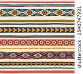 seamless pattern with ethnic... | Shutterstock . vector #1540747931