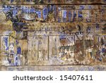 picture on the wooden wall in... | Shutterstock . vector #15407611
