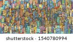 city background  hand drawn... | Shutterstock .eps vector #1540780994