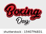 boxing day banner  vector... | Shutterstock .eps vector #1540796831