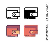 wallet icon. with outline ...