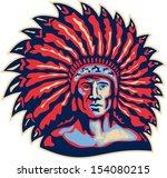 illustration of a native... | Shutterstock . vector #154080215
