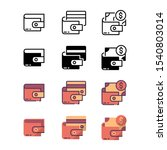 payment wallet icons. with...