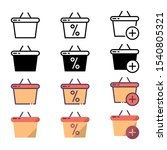 shopping basket icon and...