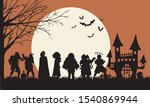 mask of singers on halloween | Shutterstock .eps vector #1540869944