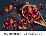 Dried Rose Petals  Placed In...