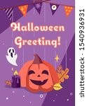 halloween greeting card with... | Shutterstock .eps vector #1540936931