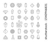 jewel quartz or crystal... | Shutterstock .eps vector #1540946831