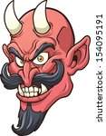 smiling devil head. vector clip ... | Shutterstock .eps vector #154095191