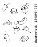 illustration menu of fast food... | Shutterstock . vector #1540954754