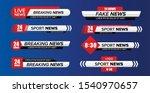 Tv News Bar. Lower Third Tv...
