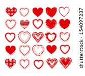love hearts over white... | Shutterstock .eps vector #154097237