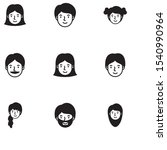 head woman face avatar... | Shutterstock .eps vector #1540990964