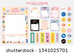 collection of weekly or daily... | Shutterstock .eps vector #1541025701