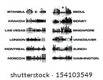 skyline collection   black and... | Shutterstock .eps vector #154103549