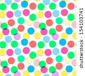 Seamless confetti pattern in candy colors, vector illustration.  - stock vector