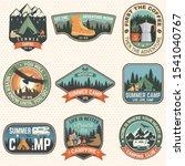 set of summer camp badges.... | Shutterstock .eps vector #1541040767