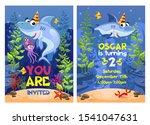 Shark Party Invitation With...
