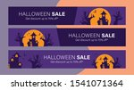 happy halloween sale mobile... | Shutterstock .eps vector #1541071364