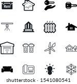 home vector icon set such as ...