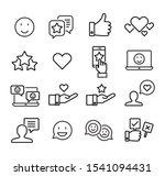 collection of social media...   Shutterstock .eps vector #1541094431