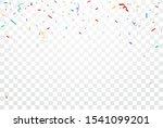 colorful confetti and ribbon...   Shutterstock . vector #1541099201