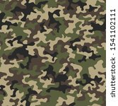 camouflage seamless pattern... | Shutterstock .eps vector #1541102111