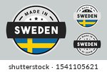made in sweden collection with... | Shutterstock .eps vector #1541105621