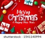 christmas vector banner design. ... | Shutterstock .eps vector #1541140994