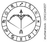 zodiac sign sagittarius and... | Shutterstock .eps vector #1541144357