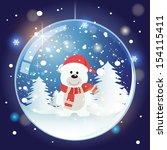 Snow Globe With Christmas Bear...