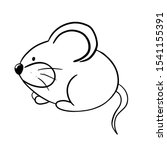 mouse coloring book vector... | Shutterstock .eps vector #1541155391