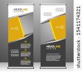 vertical banner roll up... | Shutterstock .eps vector #1541174321