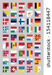vector flags of european states ... | Shutterstock .eps vector #154118447