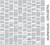 vector seamless newspaper... | Shutterstock .eps vector #154118741