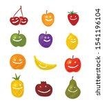 fruit smiling characters... | Shutterstock .eps vector #1541196104